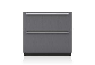 "Sub-Zero 36"" Designer Refrigerator Drawers with Air Purification - Panel Ready ID-36RP"