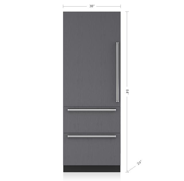 Sub Zero 30 Quot Designer Over And Under Refrigerator Freezer