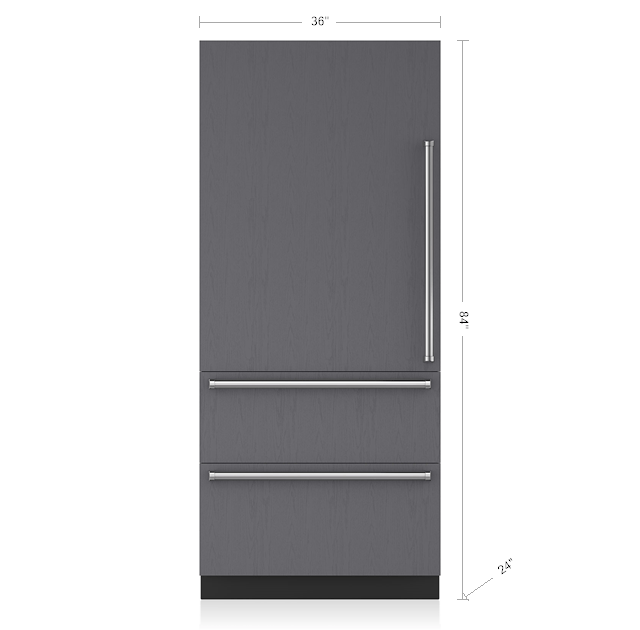 36 Integrated Over And Under Refrigerator Panel Ready It 36r Sub Zero Liances