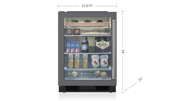 24 Quot Undercounter Beverage Center Panel Ready Uc 24bg O