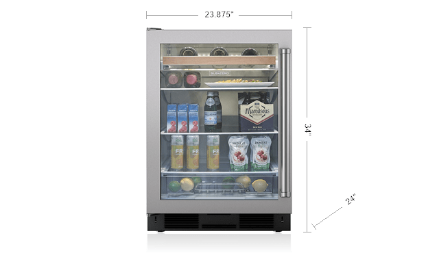 Sub Zero 24 Quot Undercounter Beverage Center Stainless Door