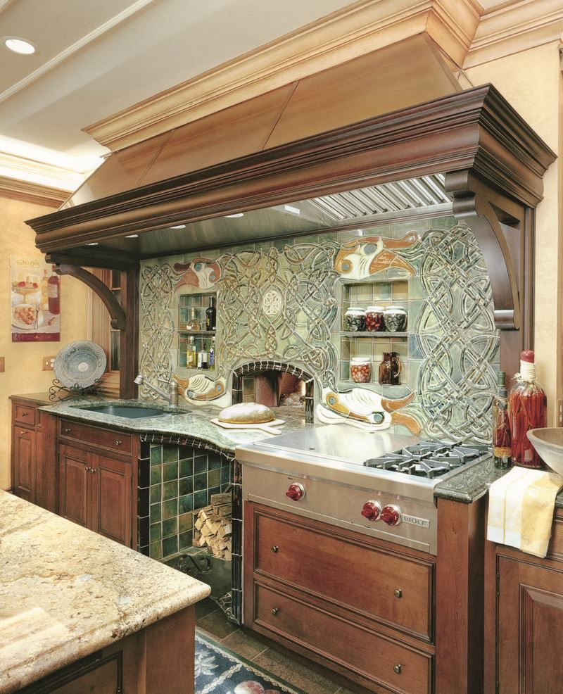 Open Oven In Kitchen: Sub-Zero, Wolf, And Cove Kitchens