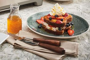 Berry Stuffed French Toast With Orange Vanilla Bean Glaze