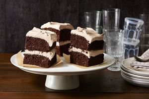 Chocolate Cake with Cocoa Buttercream Frosting
