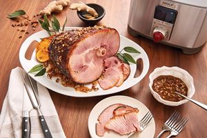 Spiced Ham with Bourbon Brown Mustard and Praline Glaze