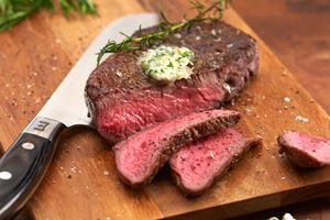 Pan-Roasted Steak with Gorgonzola-Shallot Butter