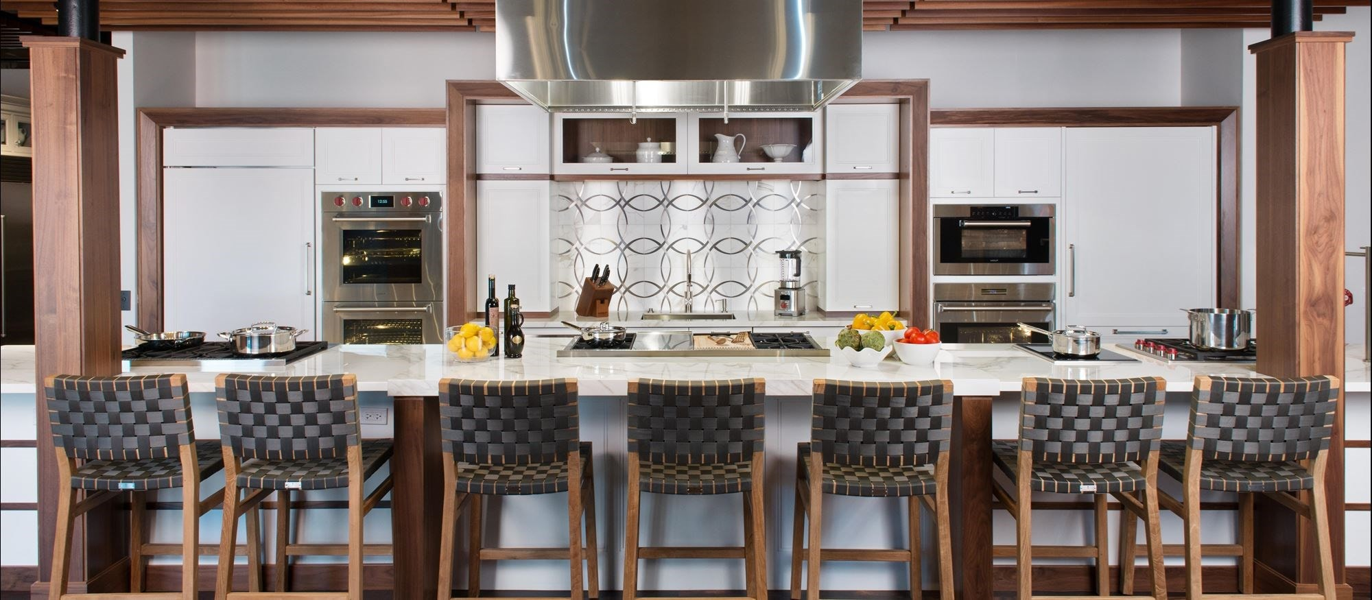 Explore ideas for your new kitchen at Sub-Zero, Wolf and Cove Showroom in Boston, Massachusetts