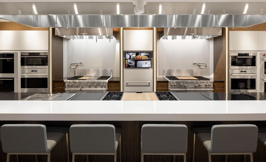 Experience a live cooking demonstration by our showroom chef at the Sub-Zero, Wolf and Cove Showroom in Charlotte, North Carolina