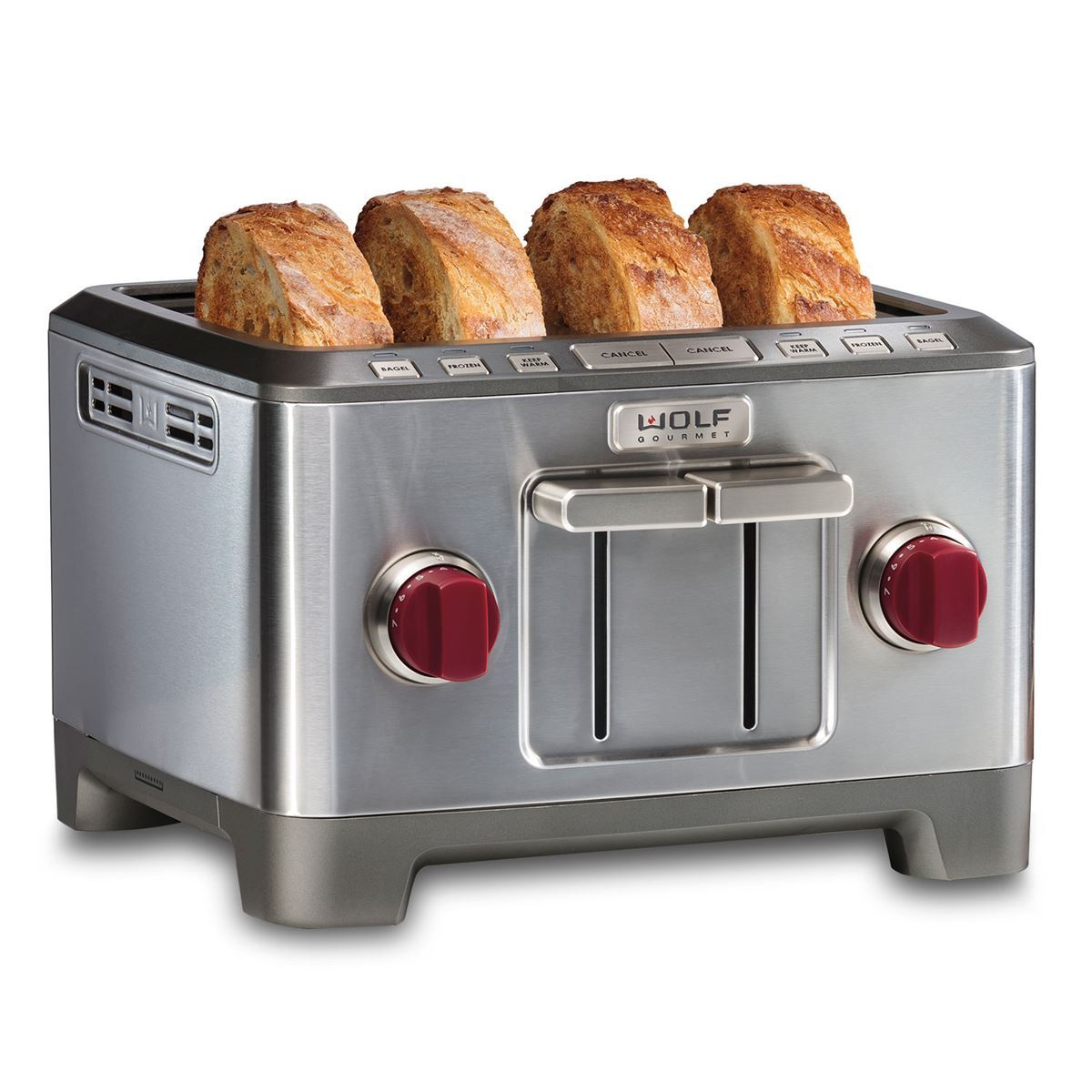 Four slice toaster wolf gourmet countertop appliances for Wolf toaster oven