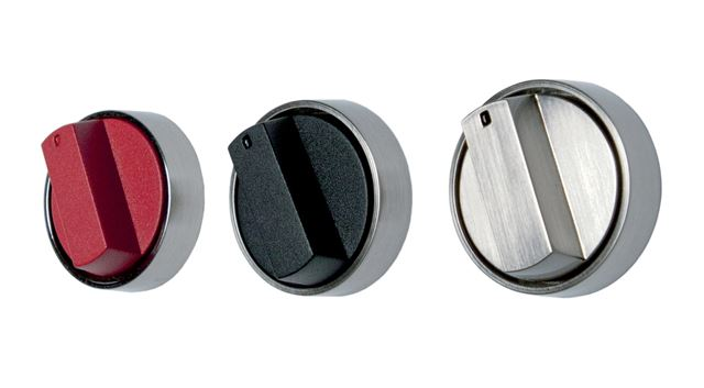 Professional Gas Cooktop Knobs Red Black And Stainless
