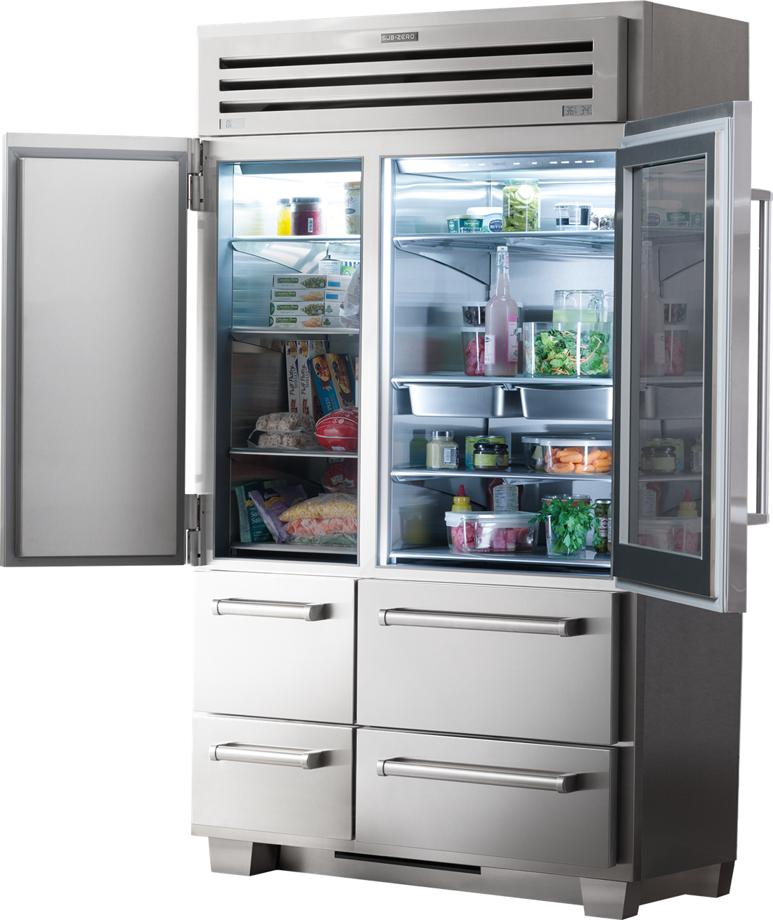 Sub-Zero Refrigerators PRO 48 with Glass Door (648PROG)