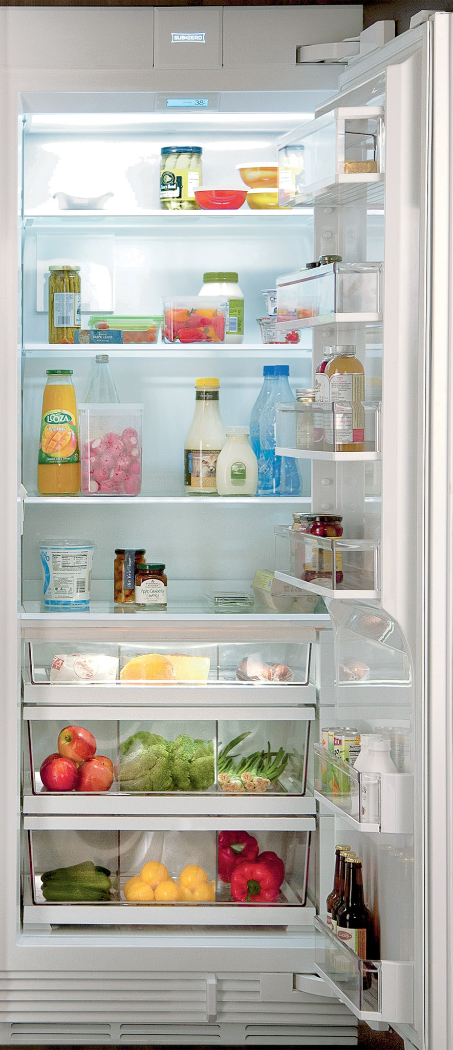 "Sub-Zero Refrigerators 30"" Designer Column Refrigerator with Internal Dispenser - Panel Ready (IC-30RID)"