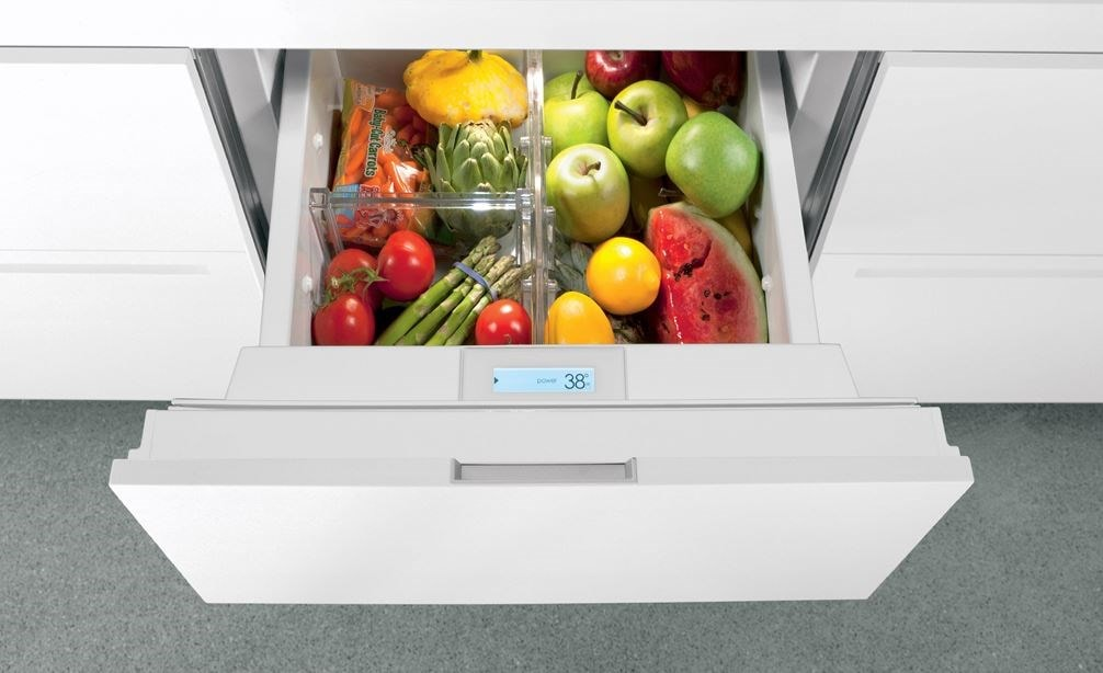 "Sub-Zero 24"" Refrigerator Drawers Panel Ready (ID-24R) features touchscreen technology to precisely regulate temperatures in any room."
