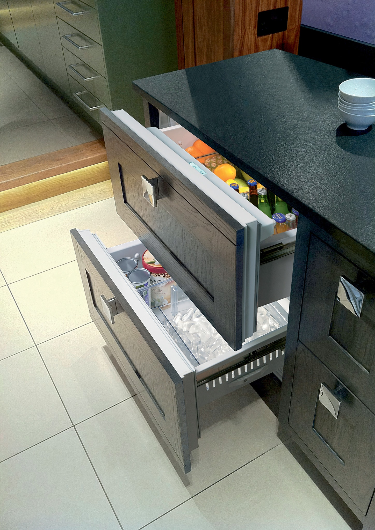 Sub Zero 36 Quot Designer Refrigerator Freezer Drawers With