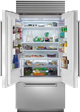 36 Quot Built In French Door Refrigerator Freezer With