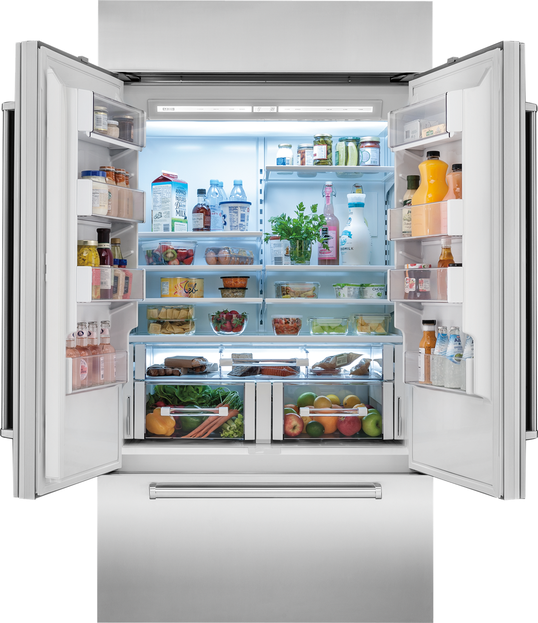 "Sub Zero Glass Door Refrigerator 42"" classic french door refrigerator/freezer - panel ready"