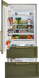 36 Quot Integrated Over And Under Refrigerator Freezer With