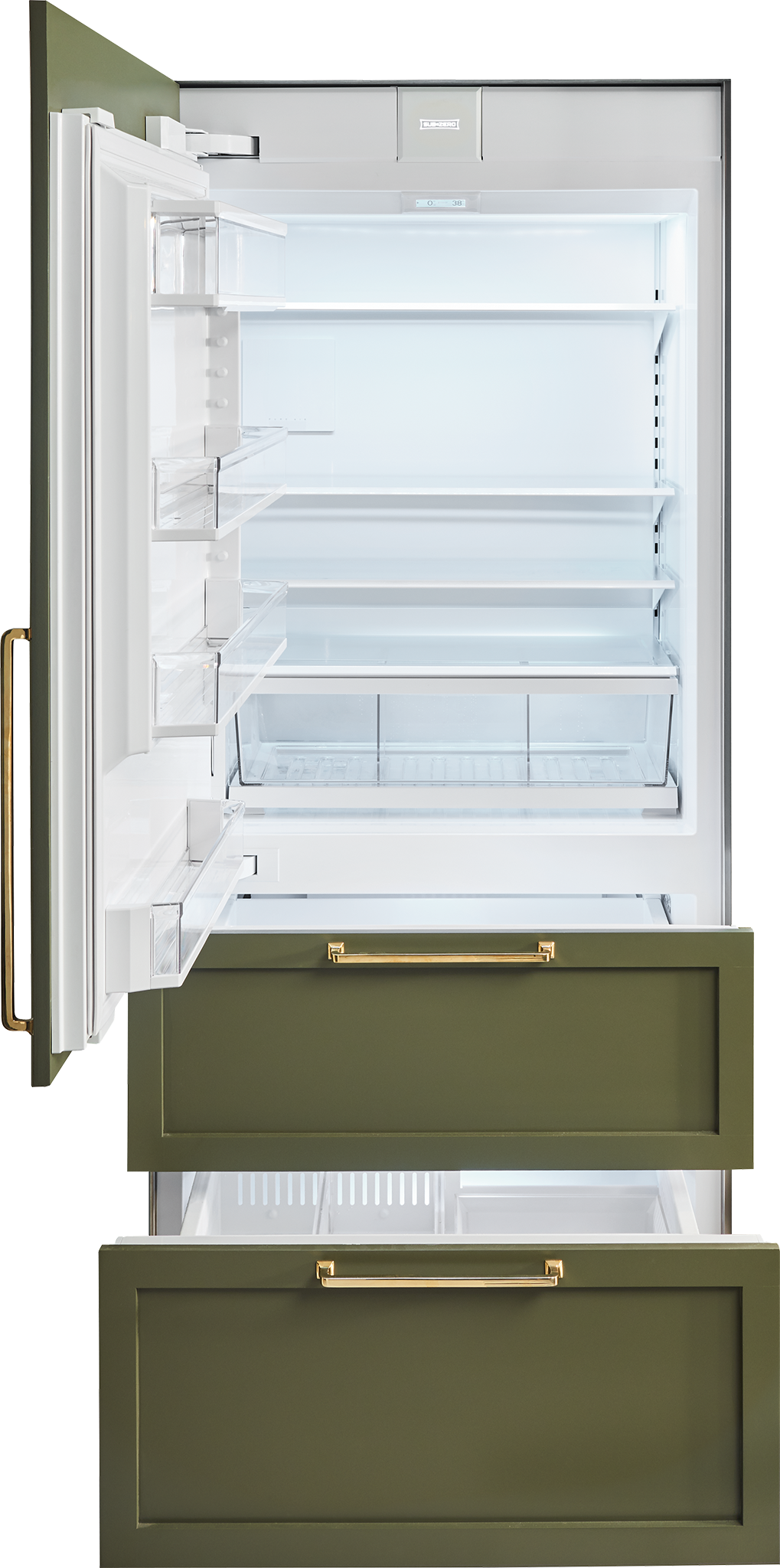 "Sub-Zero Refrigerators 36"" Designer Over-and-Under Refrigerator/Freezer with Internal Dispenser and Ice Maker - Panel Ready (IT-36CIID)"