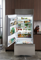 36 Quot Built In Over And Under Refrigerator Freezer With