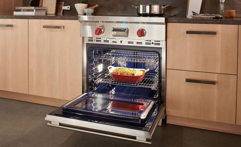 Wolf 30 Transitional Induction Range Ir304te S Th Showing Multiple Oven