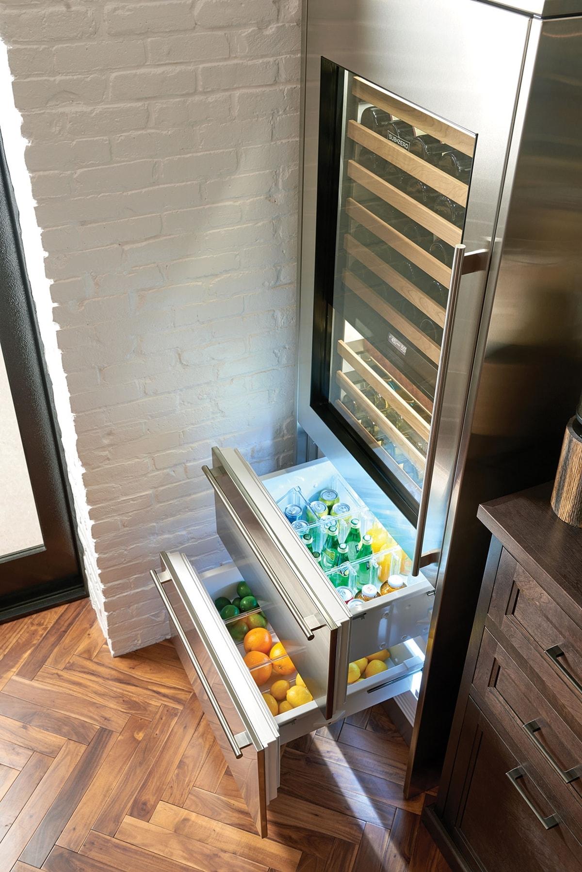 Sub Zero 30 Quot Designer Wine Storage Refrigerator Drawers