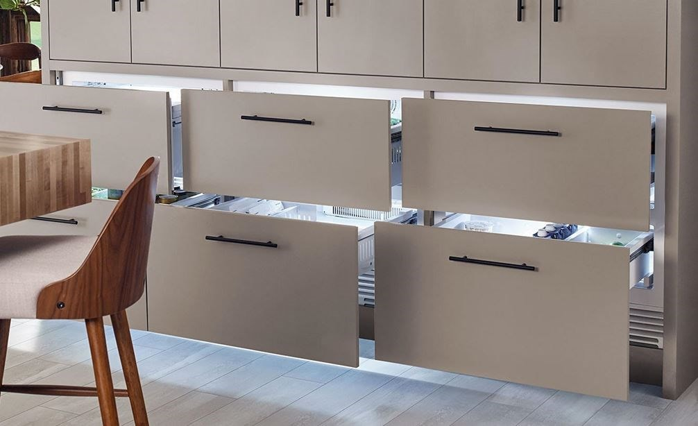 "Sub-Zero 30"" Freezer Drawers Panel Ready (ID-30F) provides freezer storage in any room in your home from master suite to kitchen bar."