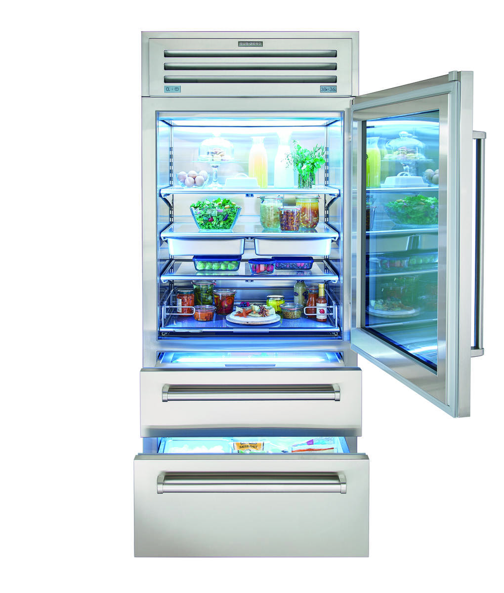 Sub zero 36 pro refrigerator freezer with glass door pro3650g - Glass door refrigerator freezer ...