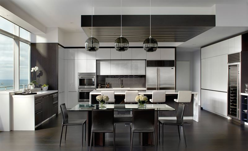 Chicago Penthouse SubZero Wolf And Cove Kitchens Amazing Kitchen Designer Chicago