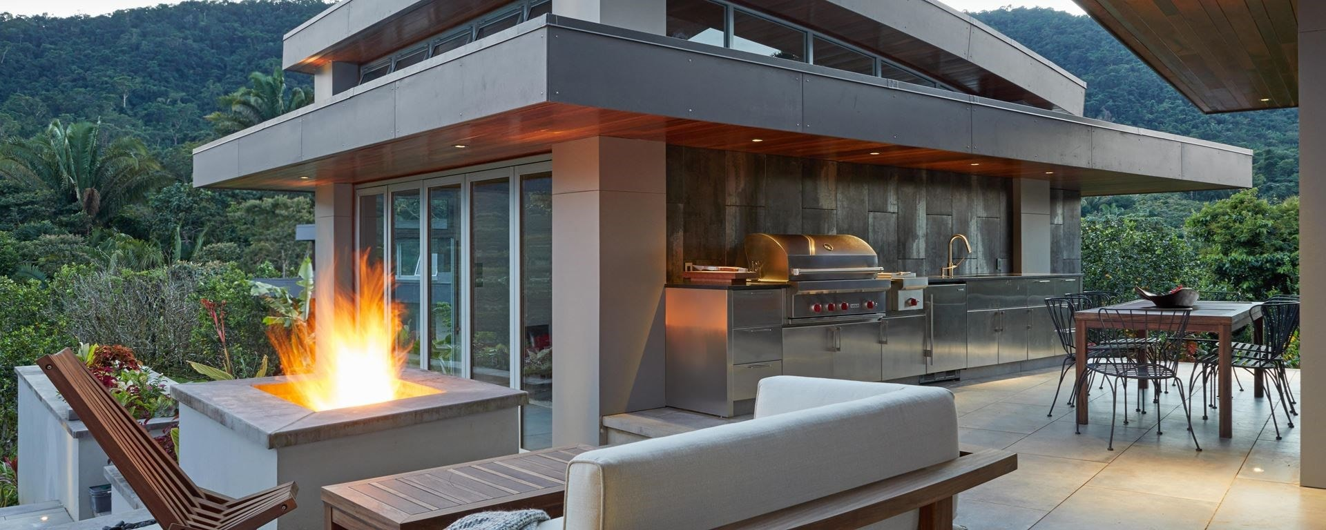 The Jungle Grill featured in our kitchen design contest shows outdoor kitchen spaces can have luxury in any location.