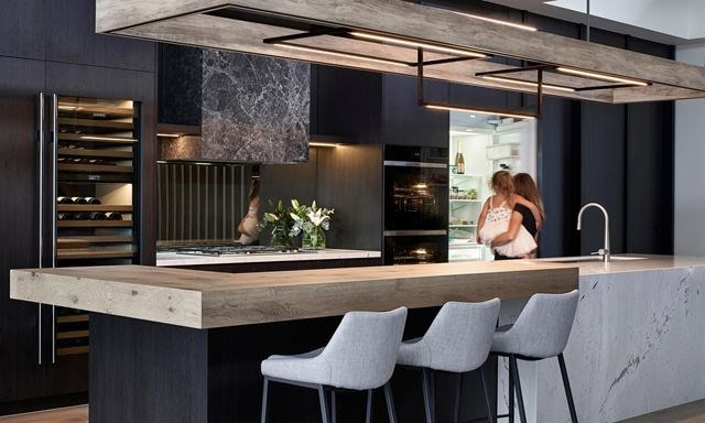 Contemporary Canadian Bay kitchen by Kirstyn Lloyd.