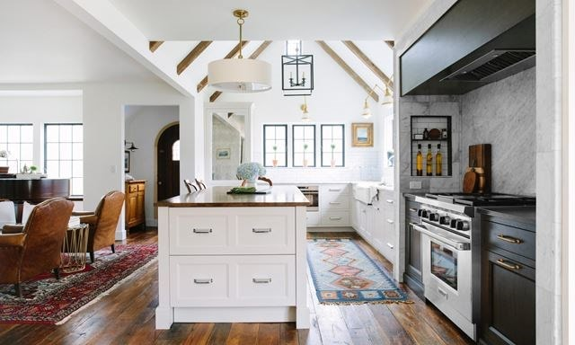 Award winning kitchen design, the English Cottage displays modern Wolf appliances expertly blended with classic kitchen design.