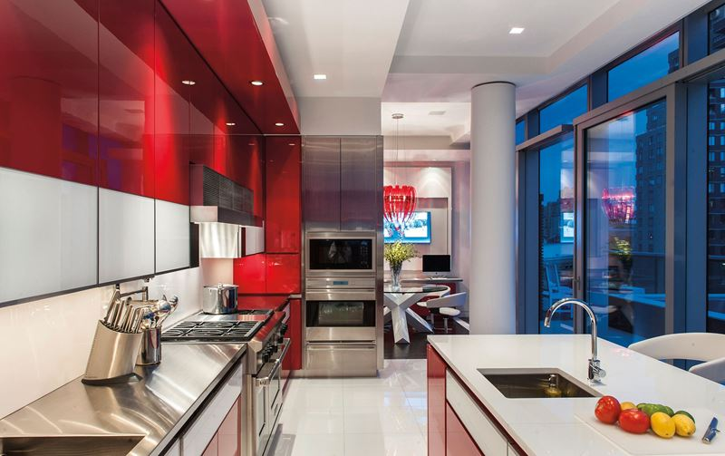 West village apartment sub zero wolf and cove kitchens