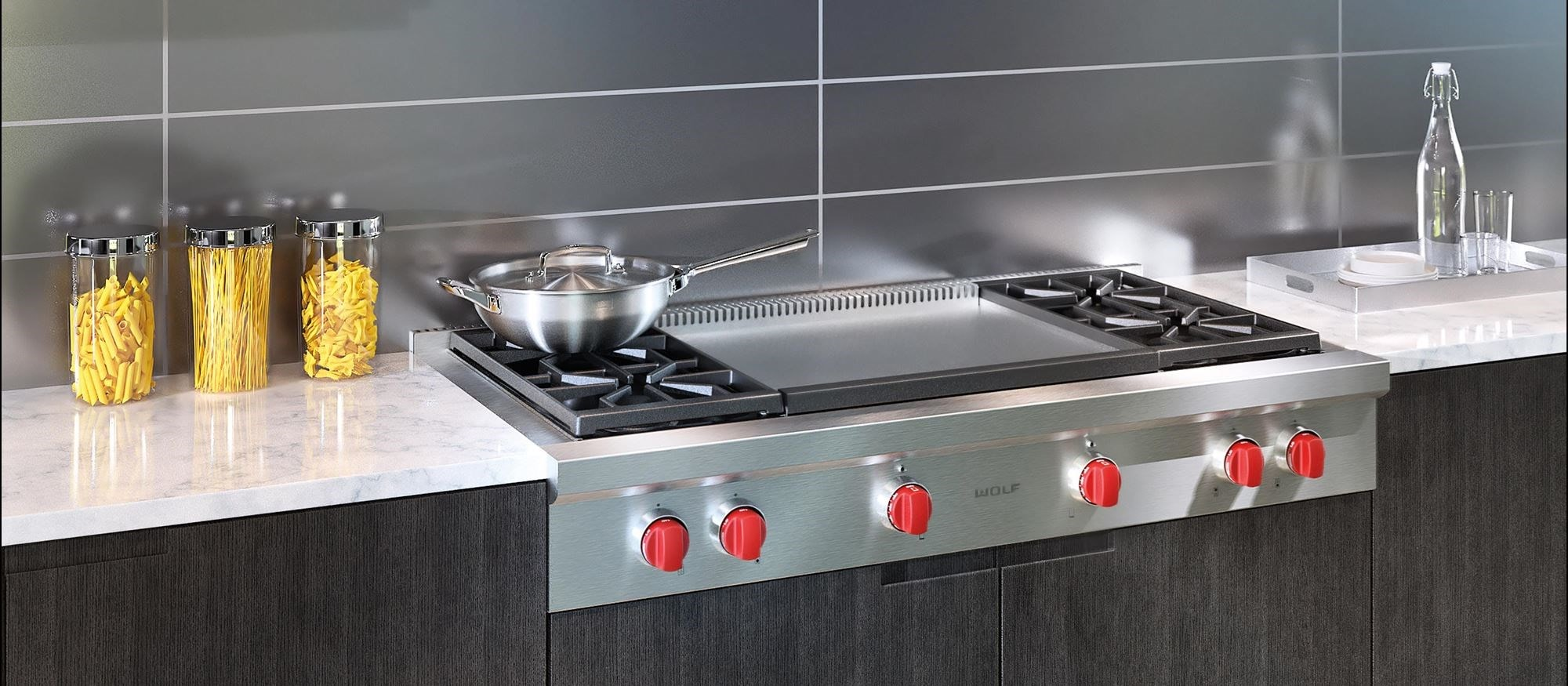 48 Sealed Burner Rangetop 4 Burners And Infrared Dual Griddle