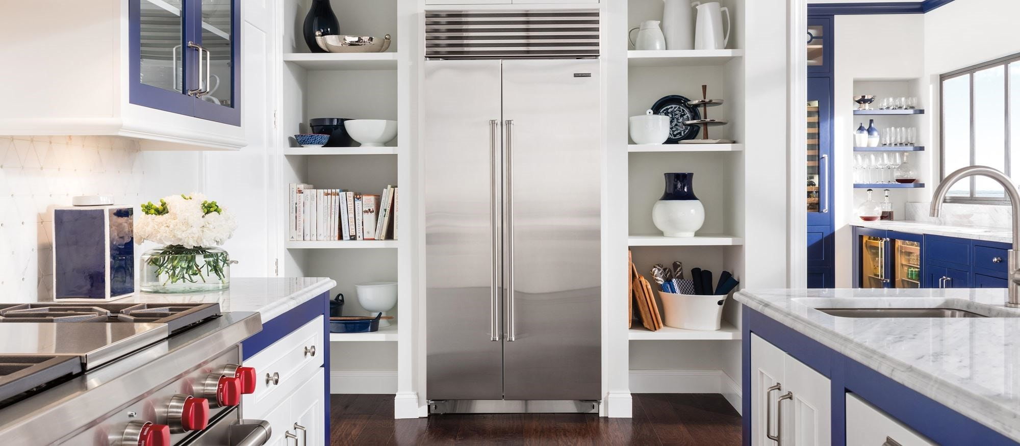 "Sub-Zero 36"" Classic Side by Side Refrigerator Freezer (BI-36S/S) - Formerly Built-In"