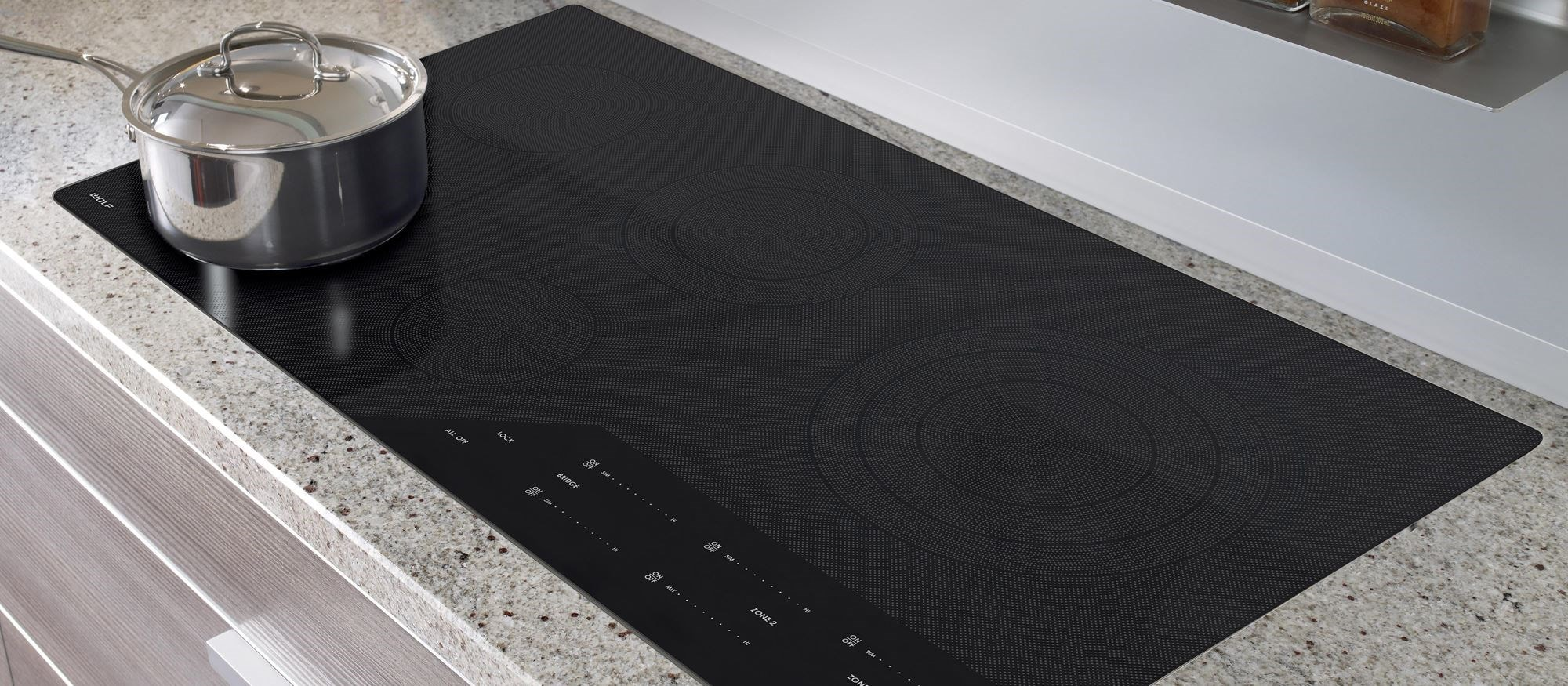 "Wolf 36"" Contemporary Electric Cooktop (CE365C/B)"