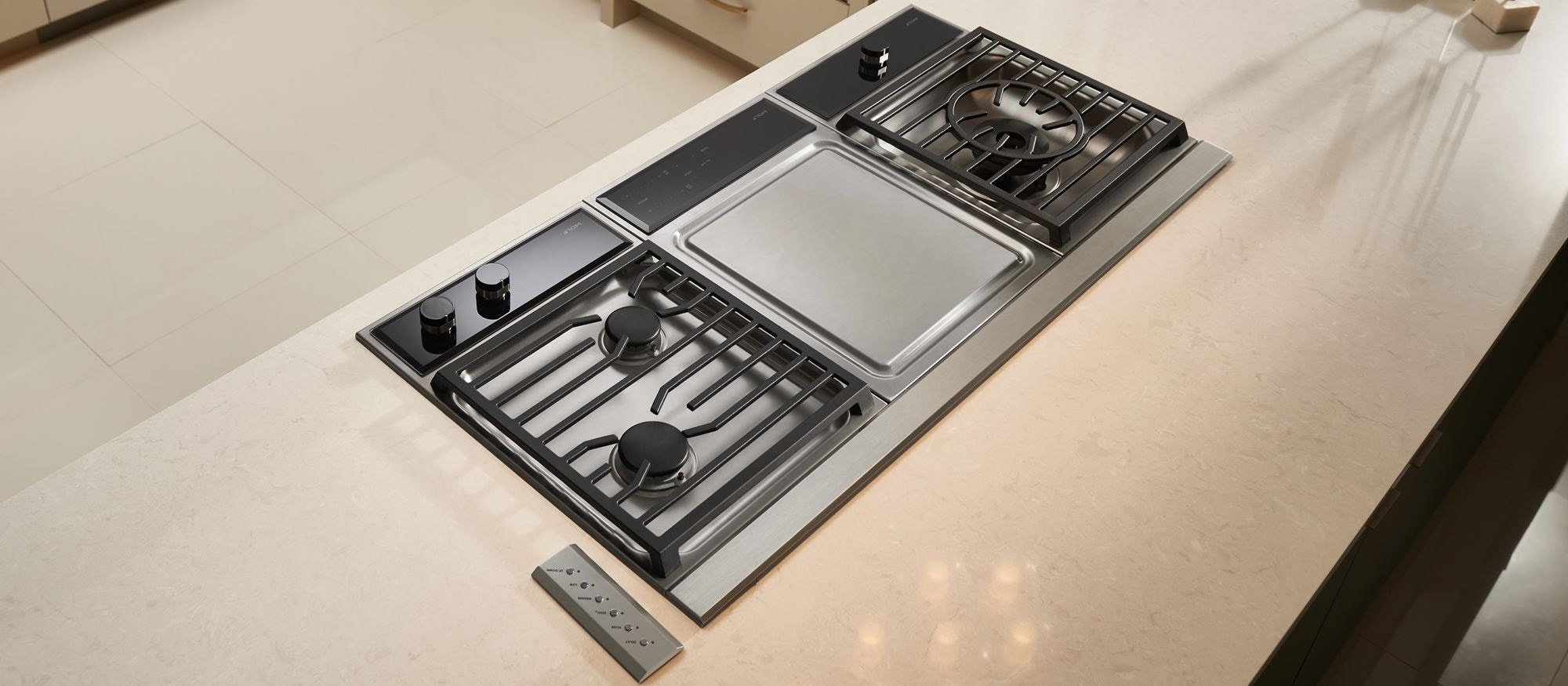 Wolf 15 Transitional Framed Gas Cooktop