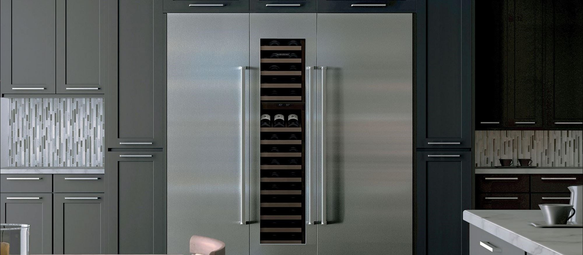 "Sub-Zero 30"" Integrated Column Refrigerator with Internal Dispenser - Panel Ready (IC-30RID) - Formerly Integrated"