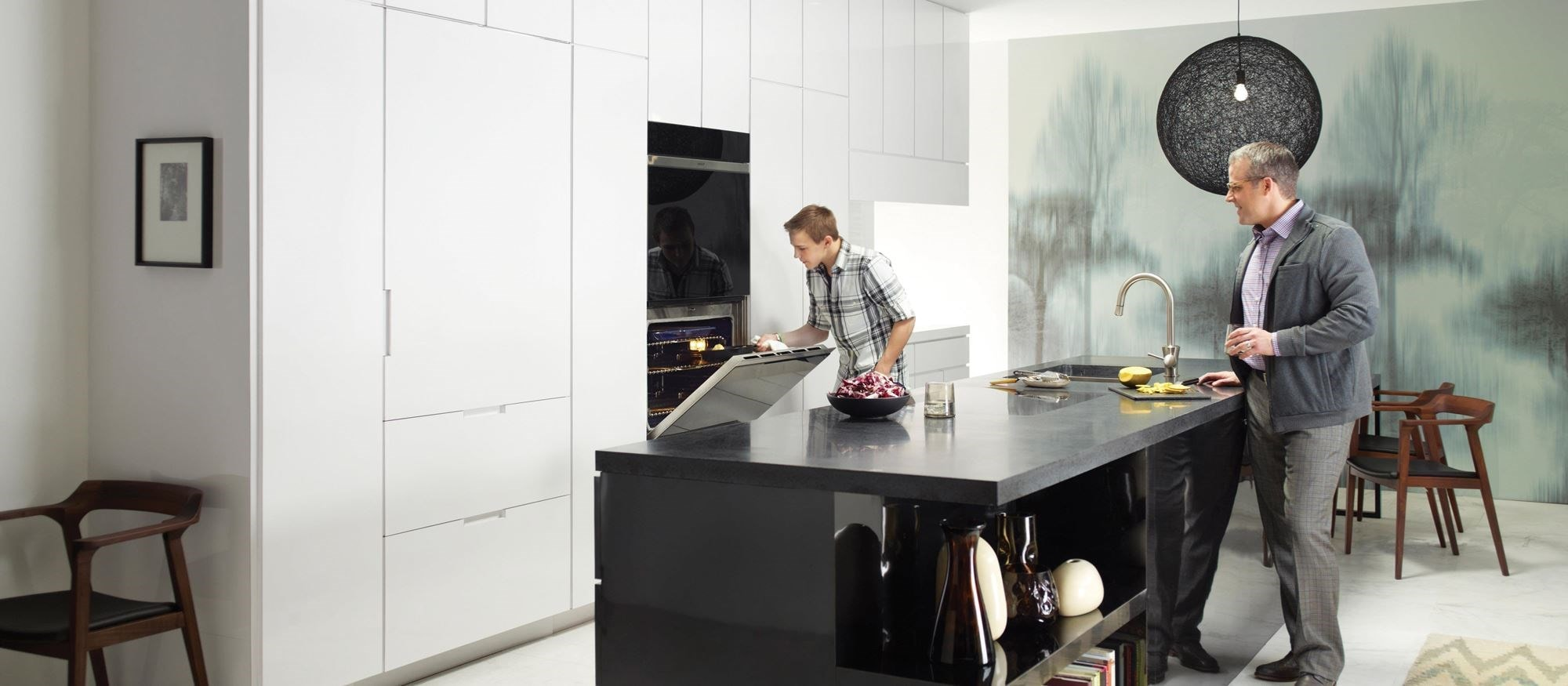 "Wolf 30"" contemporary built-in double oven"