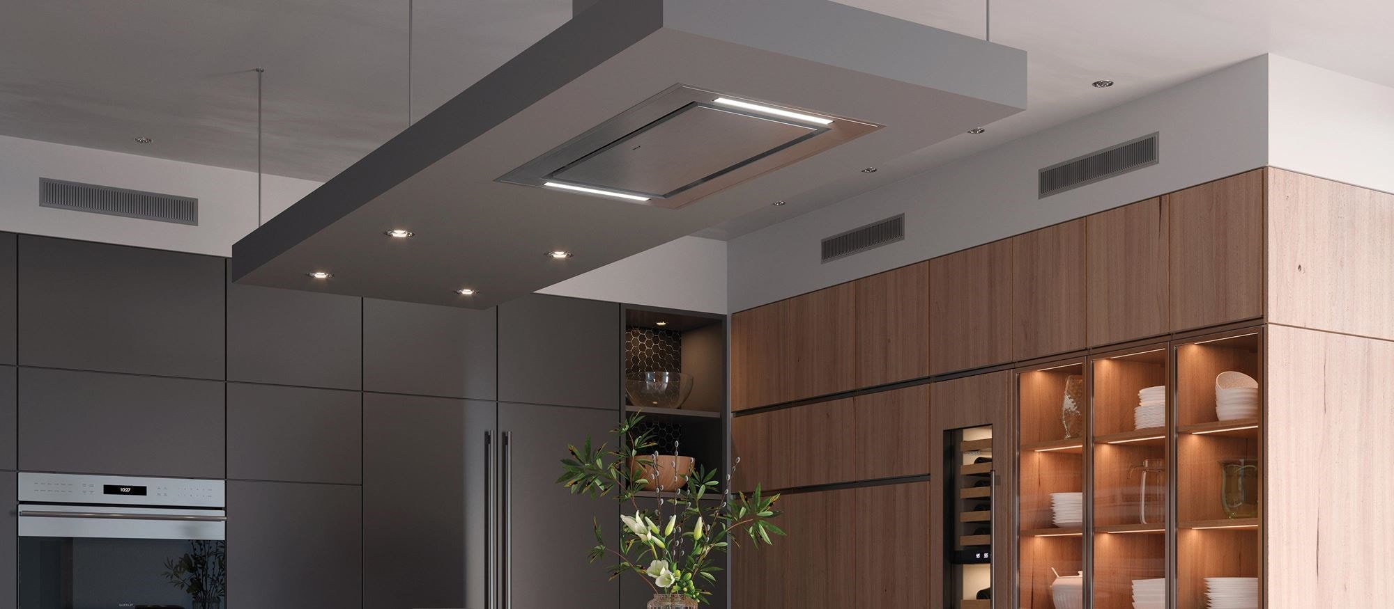 "Wolf 36"" Ceiling-Mounted Hood - Stainless Steel (VC36S)"