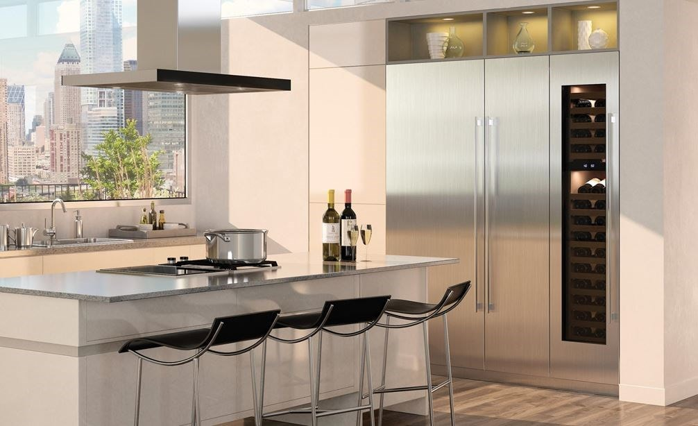 "Sub-Zero 30"" Designer Column All Refrigerator (IC-30RID) with 18 "" Designer Column All Freezer (IC-18FI)"