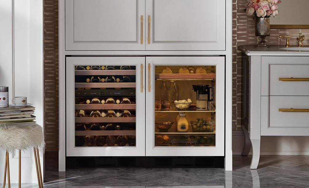 "Sub-Zero 24"" Undercounter Wine - Panel Ready (UW-24/O) paired with 24"" Undercounter Beverage Center - Panel Ready (UC-24BG/O)"