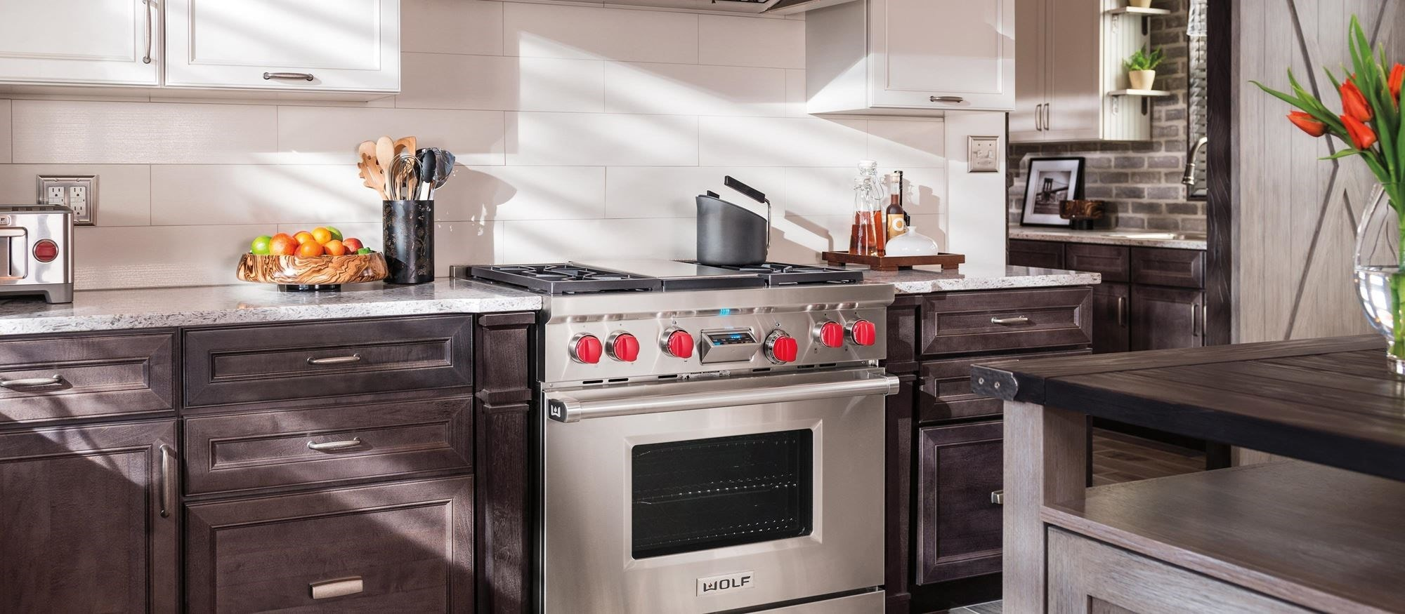 "Wolf 36"" Dual Fuel Range 4 Burners and Infrared Griddle (DF364G)"