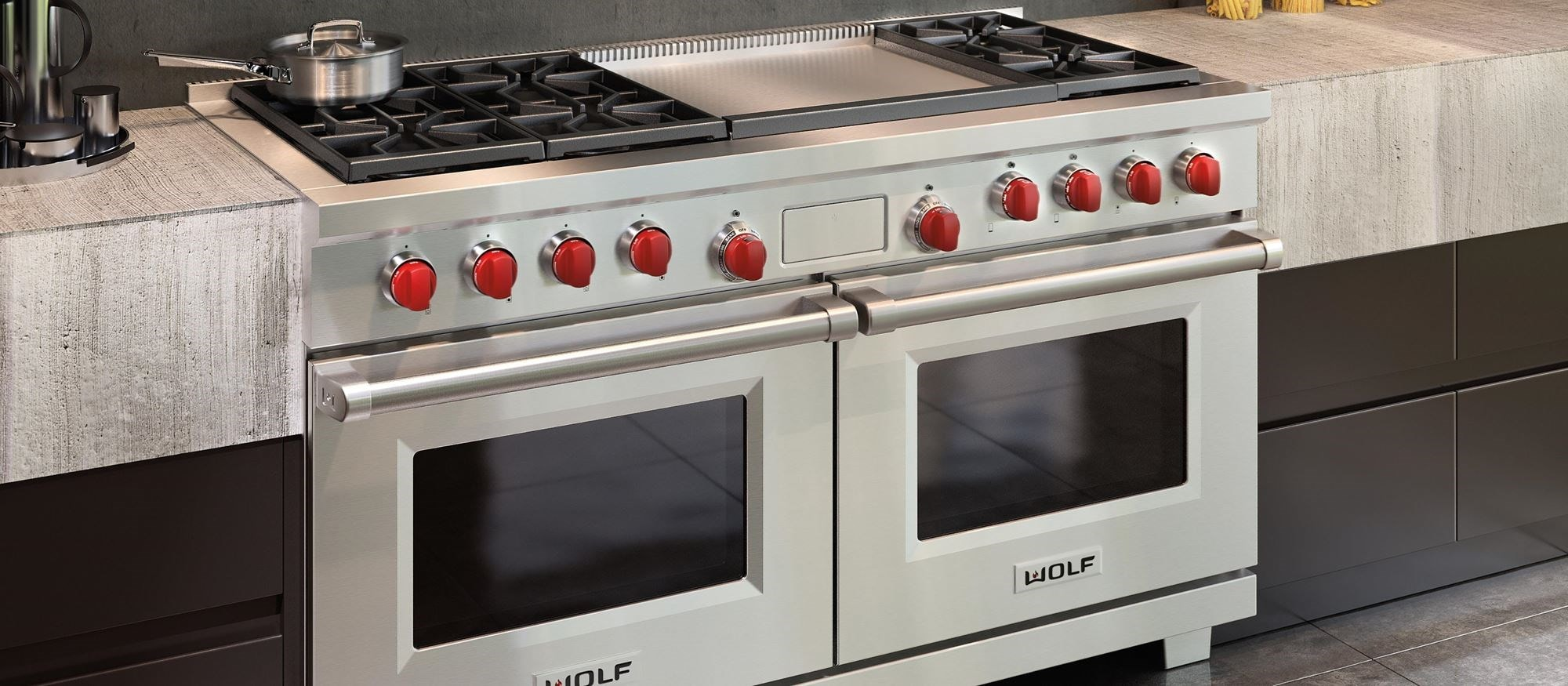 60 Dual Fuel Range 6 Burners And Infrared Griddle