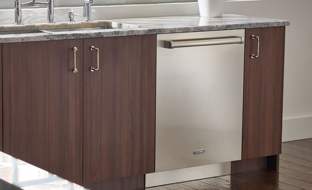"The Cove 24"" Dishwasher (DW2450WS) offers a clean modern feel thanks to a panel ready design that accepts stainless panels and handles."