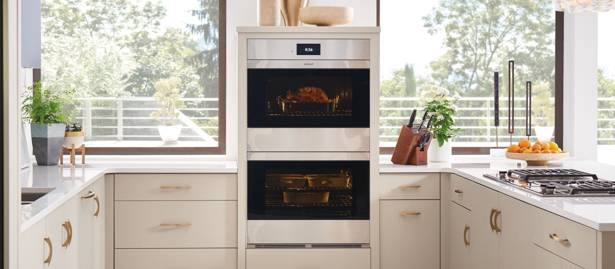 "Wolf 30"" M Series Contemporary Stainless Steel Double Oven (DO30CM/S)"