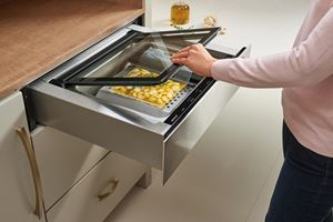 "The Wolf 24"" Vacuum Seal Drawer (VS24) removes air and seals food, including liquids, in airtight bags to keep it in the perfect condition until you're ready to serve."
