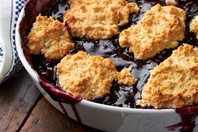 Cherry and Blueberry Cobbler