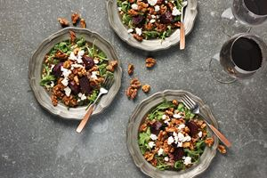 Roasted Beet and Wheat Berry Salad with Walnut Vinaigrette