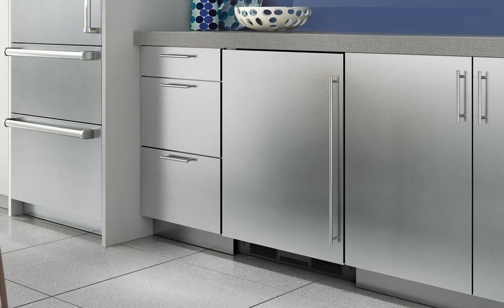 "The Sub-Zero 24"" Undercounter Refrigerator Freezer Panel Ready (UC- 24C) blends seamlessly making it the perfect addition to any kitchen."