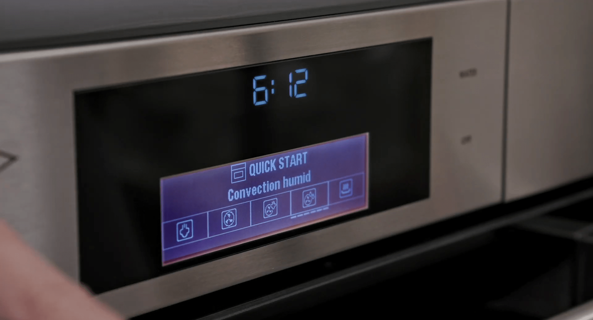 Wolf Convection Steam Oven touch controls - Convection Humid Mode